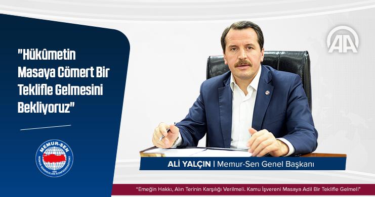 Yalçın, Anadolu Ajansı'na Konuştu