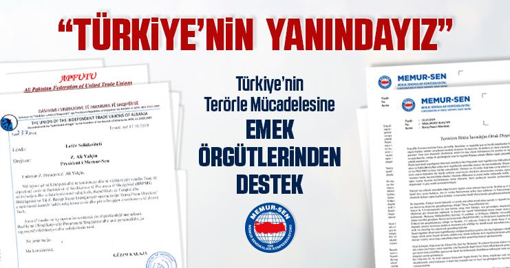 Türkiye'nin Terörle Mücadelesine Emek Örgütlerinden Destek