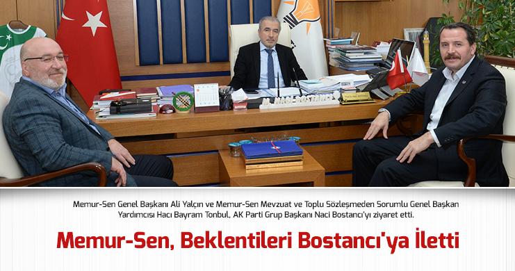 Memur-Sen'den AK Parti Grup Başkanı Bostancı'ya Ziyaret