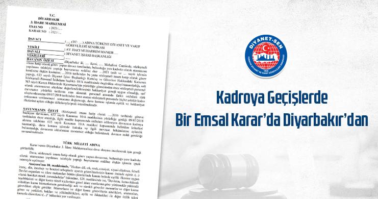 Sözleşmeliden Kadroya Geçişte Bir Karar da Diyarbakır'dan