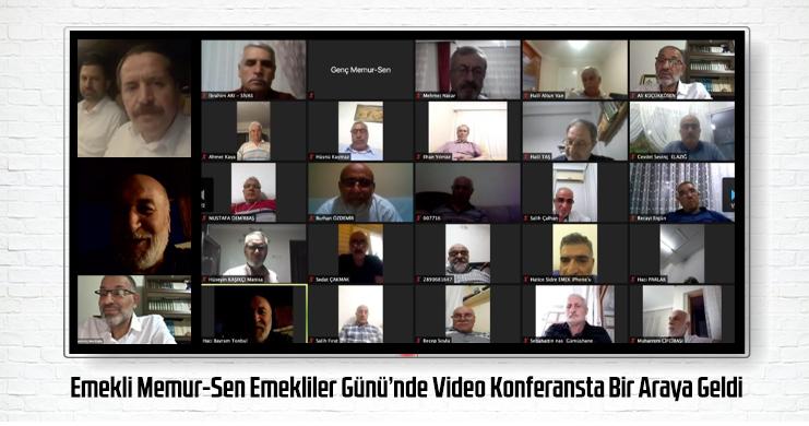 Emekli Memur-Sen Emekliler Günü'nde Video Konferansta Bir Araya Geldi