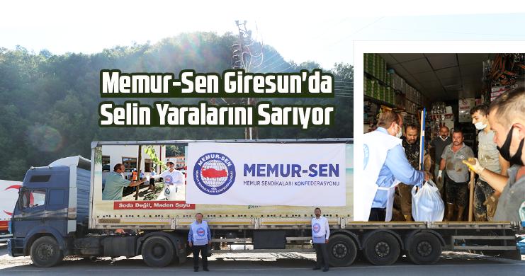 Memur-Sen Giresun'da Selin Yaralarını Sarıyor