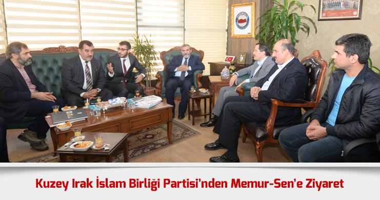 Kuzey Irak İslam Birliği Partisi'nden Memur-Sen'e Ziyaret