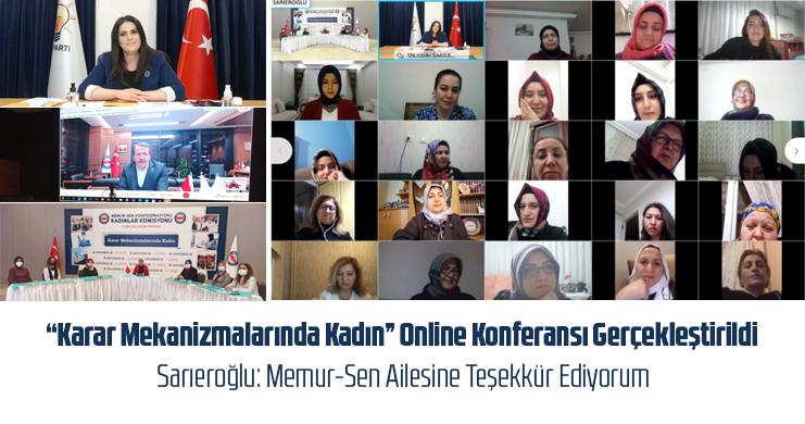 """""""Karar Mekanizmalarında Kadın"""" Online Konferansı Gerçekleştirildi"""