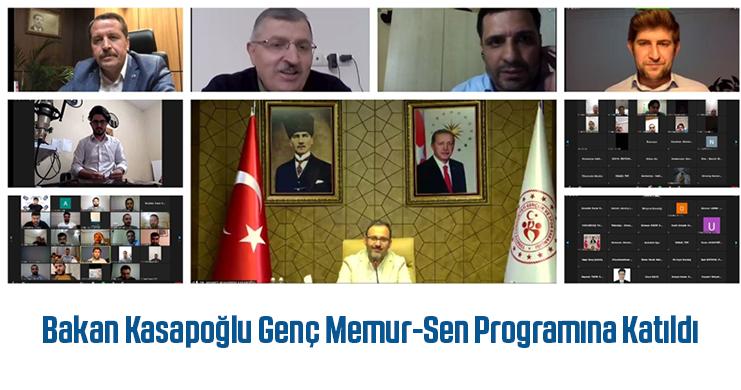 Bakan Kasapoğlu Genç Memur-Sen Programına Katıldı