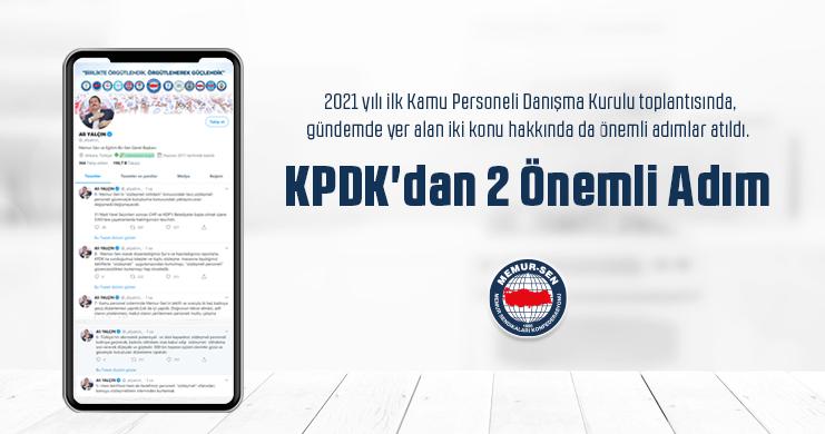 KPDK'dan 2 Önemli Adım