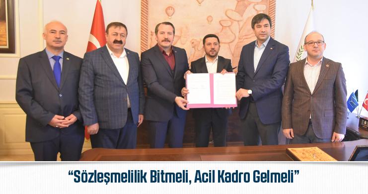 Yalçın, Nevşehir'de Sosyal Denge Sözleşmesi Törenine Katıldı