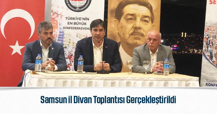 Samsun il Divan Toplantısı Gerçekleştirildi