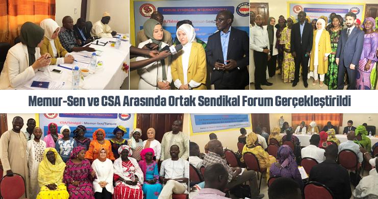 Memur-Sen ve CSA Arasında Ortak Sendikal Forum Gerçekleştirildi