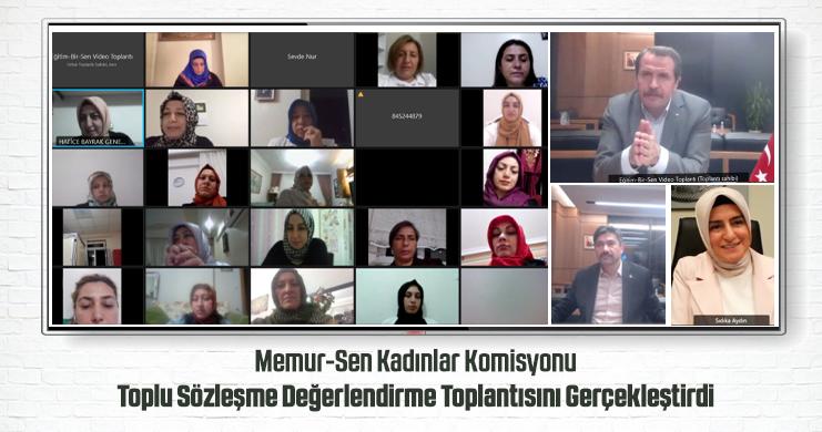 Memur-Sen Kadınlar Komisyonu Toplu Sözleşme Değerlendirme Toplantısını Gerçekleştirdi