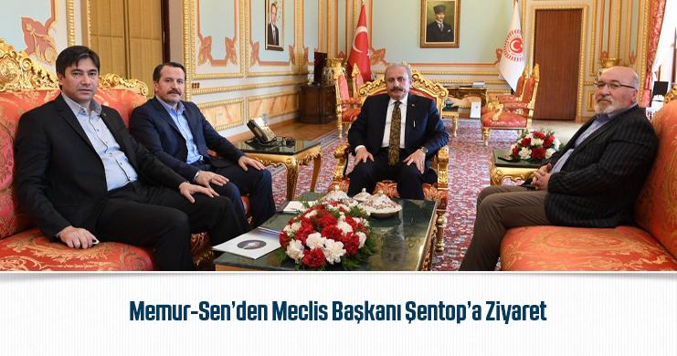 Memur-Sen'den Meclis Başkanı Şentop'a Ziyaret