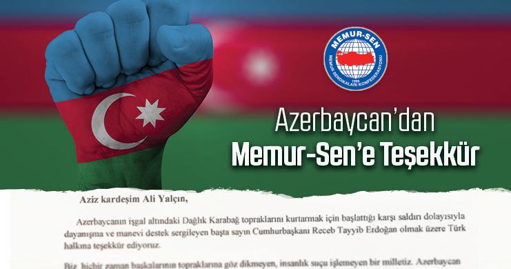 Azerbaycan'dan Memur-Sen'e Teşekkür
