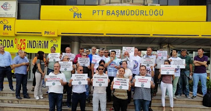 Toç Bir-Sen 81 İlden Mektup Eylemi ile Sözleşmelilerin Kadro Talebini Haykırdı