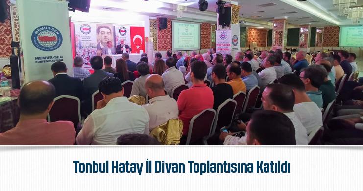 Tonbul Hatay İl Divan Toplantısına Katıldı