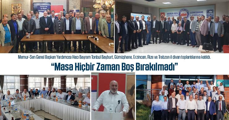 Memur-Sen Genel Başkan Yardımcısı Tonbul'dan Temaslar