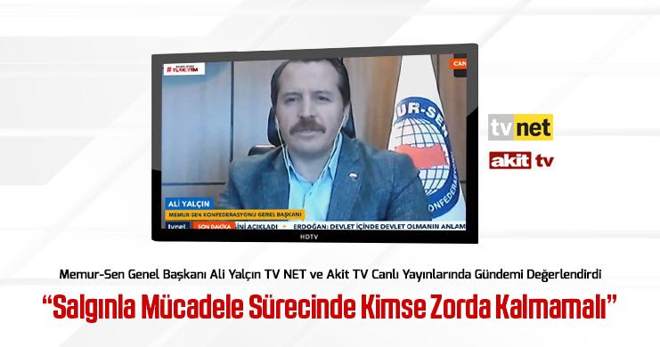 Yalçın TV NET ve Akit TV Canlı Yayınlarında Gündeme Değerlendirdi