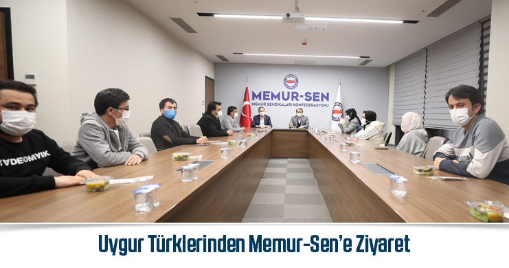 """Uygur Türklerinden Memur-Sen'e Ziyaret  """"Sesimiz Olmaya Devam Edin!"""""""