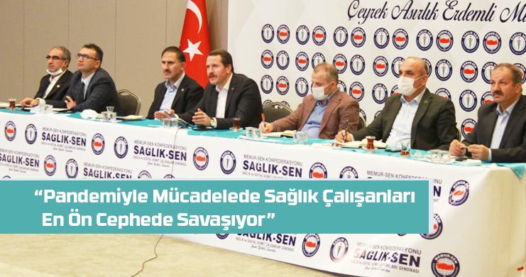 Yalçın, Sağlık-Sen Genişletilmiş Başkanlar Kurulu Toplantısına Katıldı